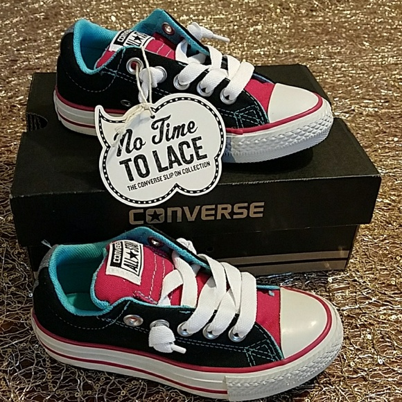 a7518a4956ebb7 NWT Converse All Star No Time To Lace Junior Sz11